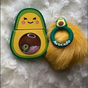 Avocado themed AirPod case